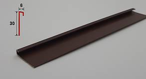 Санитарный плинтус с галтелью 2,5 м Коричневый