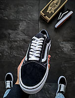 Vans Old Skool Black Мужские кроссовки черные Ванс Олд Скул Блек. Мужские кеды черные Ванс