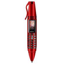 Ручка портативний мобільний телефон з камерою 0.08 MP і Bluetooth AK 007 (Червоний)