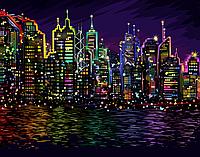 "Картина по номерам. ""Ночной город "" 40*40см KpNe-02-01"