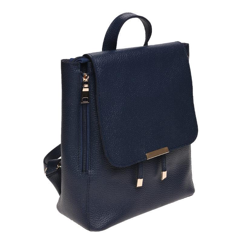 Женский кожаный рюкзак Ricco Grande 1L918-blue