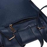 Женский кожаный рюкзак Ricco Grande 1L918-blue, фото 6