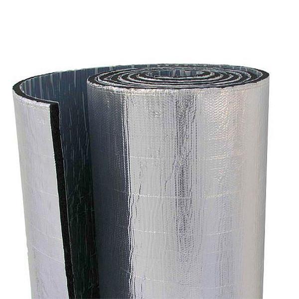 Каучук фольгированный RC Алюхолст с клеем 32 мм рулон 6 м. кв.