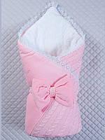 Конверт - одеяло Дуэт на выписку (розовый, зима)