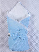 Конверт - одеяло Дуэт на выписку (голубой, зима)