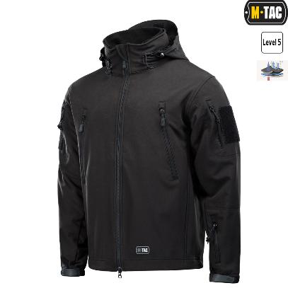 M-Tac куртка Soft Shell с подстежкой Black // РАЗМЕРЫ S / L / XL / XXL