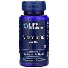 """Вітамін В6, Life Extension """"Vitamin B6 250 мг (100 капсул)"""