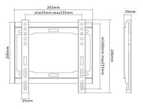 Кронштейн Satelit 19-42FIX200 (VESA200х200), фото 2