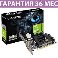 Видеокарта GeForce GT710, Gigabyte, 2 Гб DDR5, 64-bit, низкопрофильная (GV-N710D5-2GL)