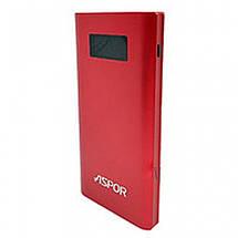 Повербанк 10000 mAh, Aspor Q388 USB 3.0 (3.0A, 2 порта USB, разъемы micro USB и Type-C) красный, фото 2