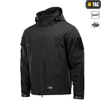M-Tac куртка Soft Shell с подстежкой Black // РАЗМЕРЫ S / M / L / XL / XXL