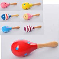 Маракас детская деревянная игрушка-погремушка, фото 1