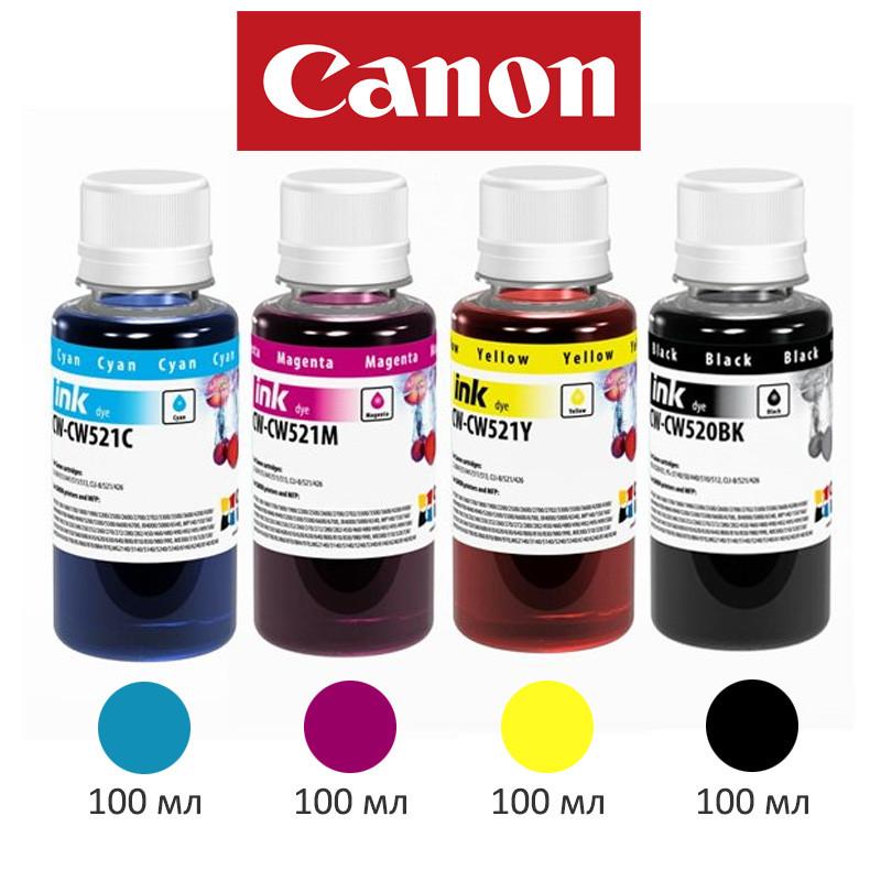 Комплект чернил ColorWay Canon MP230/250, iP2700, 4x100 мл, краска для принтера кэнон для картриджа чернила