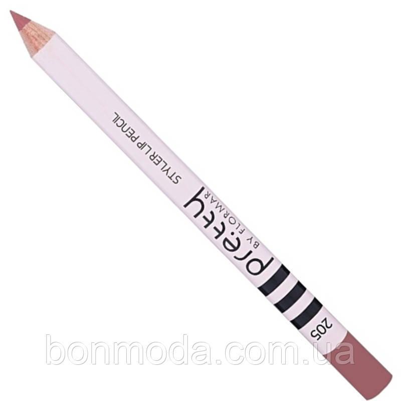 """Карандаш для губ Flormar Pretty Styler Lip Pencil """"Dusty Rose"""" № 205"""