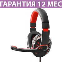 Игровые наушники с микрофоном Esperanza EGH330R Red (EGH330R), длина кабеля 2 метра