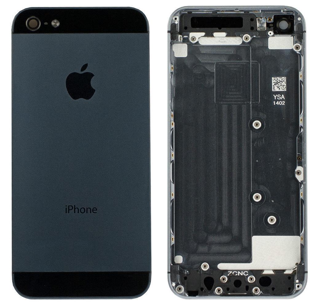 Задняя крышка iPhone 5 black, сменная панель айфон