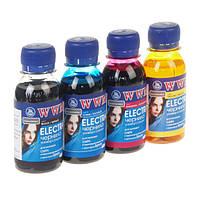 Комплект чернил WWM Epson Electra Black, Cyan, Magenta, Yellow, 100 мл (ELECTR.SET42), краска для принтера эпсон