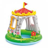 Дитячий надувний басейн Intex Королівський палац з навісом від 1 року 122х122 см для дачі
