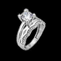 Серебряное кольцо двойное