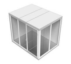 Камера зі скляним фасадом холодильна збірна