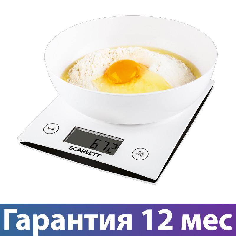 Весы с чашей кухонные Scarlett SC-KS57B10, электронные весы с тарой для кухни, електронні кухонні ваги