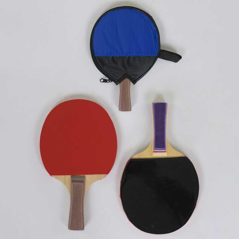 Ракетка С 40231 для пинг-понга (100) 2 цвета, 1 штука в чехле