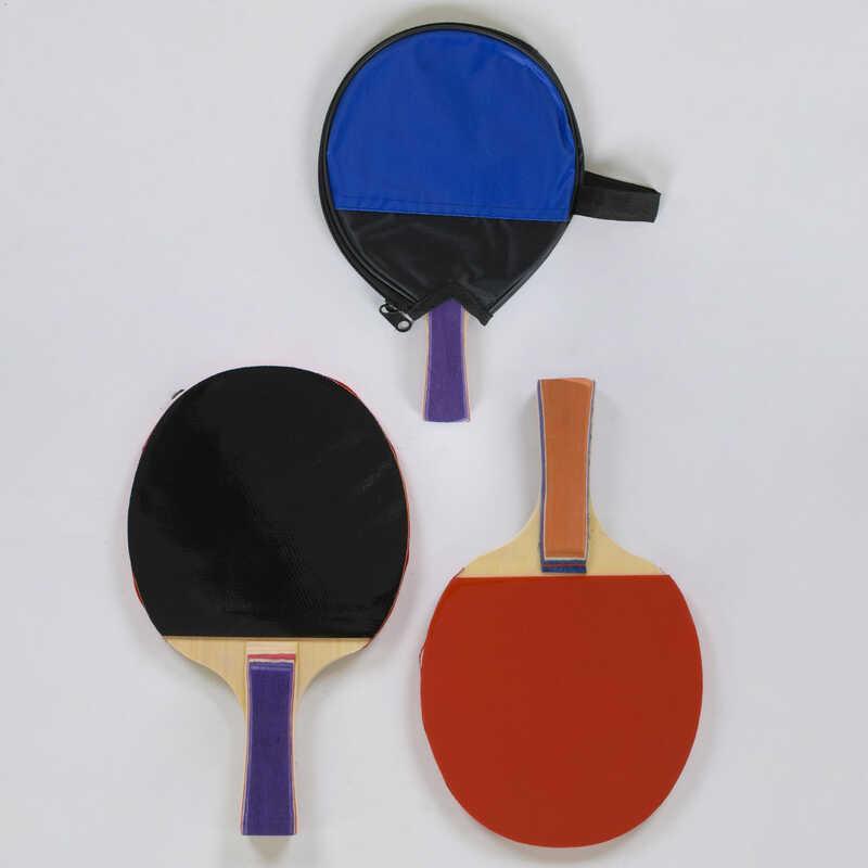 Ракетка С 40230 для пинг понга (100) 2 цвета, 1 штука в чехле