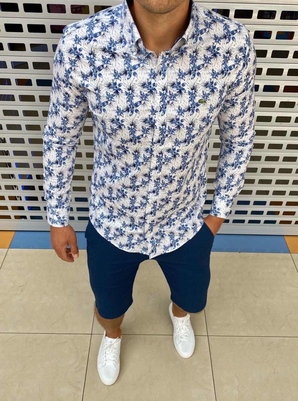 Мужская рубашка Lacoste H0703 разноцветная