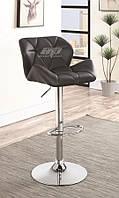 Кресло Старлайн, высокий, хром, экокожа черного цвета. Кресла для салонов красоты и парикмахерских, визажистов