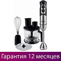 Блендер Scarlett SC-HB42K01 Black 5 скоростей, турборежим, насадка-венчик, насадка для рубки мяса и овощей
