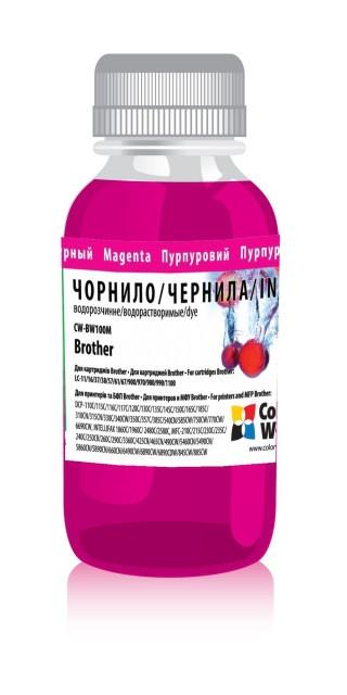 Чернила ColorWay Brother LC-11/16/37/38/57/61/67/900/970/980/990/1100, Magenta, 100 мл (CW-BW100M01), краска