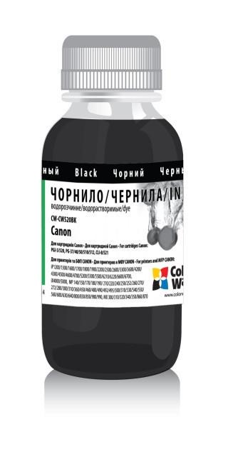 Чернила ColorWay Canon PG-37/40/50/440/510/512, PGI-5/520/425, CLI-8/521/426, Black, 100 мл (CW-CW520BK01),