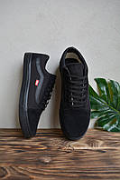 Мужские кеды Ванс. Мужские кроссовки черного цвета Vans Old Skool Black. Ванс Олд Скул Блек 44
