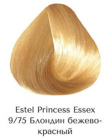 Estel Princess Essex 9/75 Блондин бежево-червоний