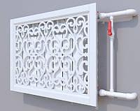 Декоративная решетка на батарею ГЛАДИОЛУС 2 SMARTWOOD | Экран для радиатора | Накладка на батарею 600*600
