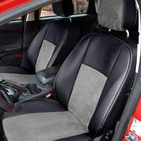 Чехлы на сиденья Mazda CX-7 2009-2012 из Экокожи и Алькантары (Союз АВТО), полный комплект (5 мест) Мазда СХ-7