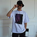 Футболка мужская белая оверсайз бренд ТУР модель California (Калифорния) размер: XS, S, M, L, XL, фото 3