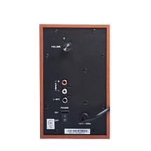 Колонки 2.0 Gemix TF-5 Cherry, 2 x 5 Вт, МДФ, питание от сети 220V, управление сзади, фото 2