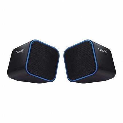 Колонки 2.0 Havit HV-SK473 Black/Blue, 2 x 3 Вт, пластиковый корпус, питание от USB, управление сзади, фото 2