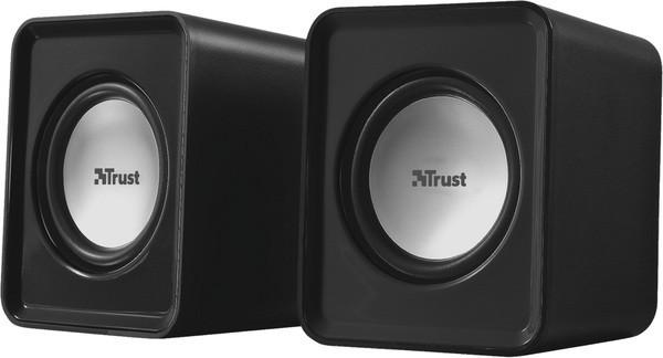 Колонки 2.0 Trust Leto Black, USB, сателлиты 2 x 1.5 Вт, 150-20000Hz, пластик, управление сзади