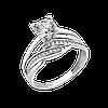 Срібне кільце подвійне