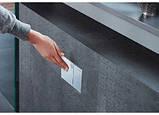 Omega60 Смывная клавиша, металл, белое стекло, фото 2
