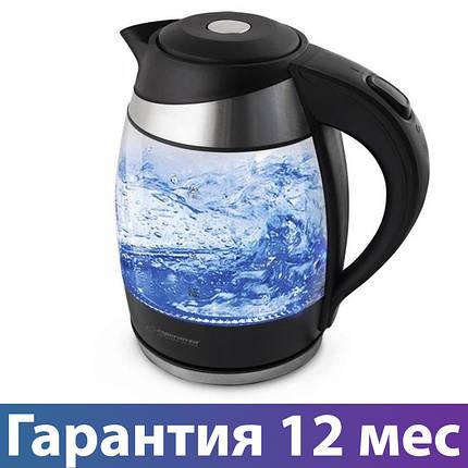 Электрочайник Esperanza EKK009, 2200 Вт, 1.8 л, стеклянный, чайник электрический, електрочайник, фото 2