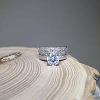 Серебряное кольцо двойное 16.5