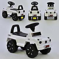 Машина-Толокар V-10606 JOY (4) цвет БЕЛЫЙ, РУССКОЕ ОЗВУЧИВАНИЕ, СВЕТОВЫЕ ЭФФЕКТЫ, багажник