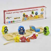 Деревянная игра Вкладыш-Шнуровка С 35686 (50) в коробке