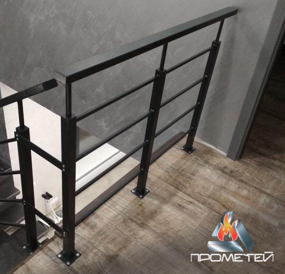 Перила из черных металлов для частного дома в стиле loft