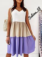Платье летние женское трёхцветное, фото 1