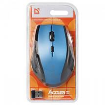 Беспроводная мышка Defender Accura MM-365, Blue, компьютерная мышь дефендер для ПК и ноутбука, фото 3
