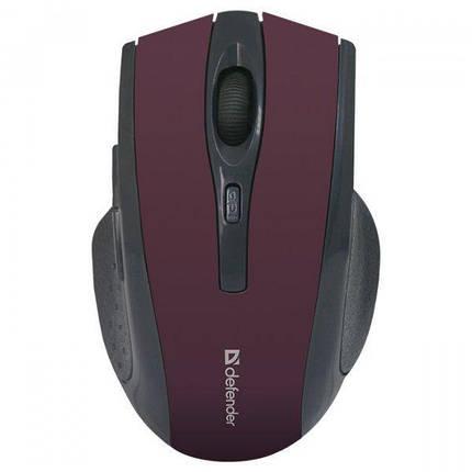 Беспроводная мышка Defender Accura MM-665, Red, компьютерная мышь дефендер для ПК и ноутбука, фото 2